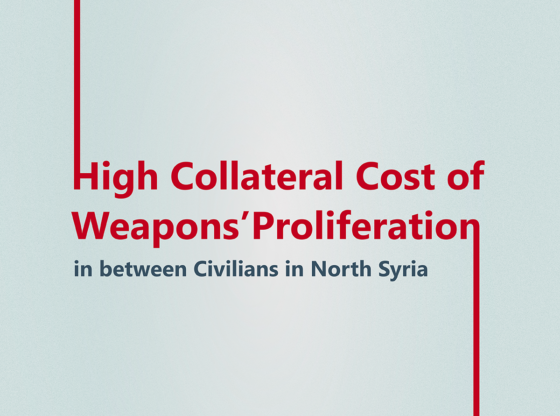 High Collateral Cost of Weapons' Proliferation in between Civilians in North Syria