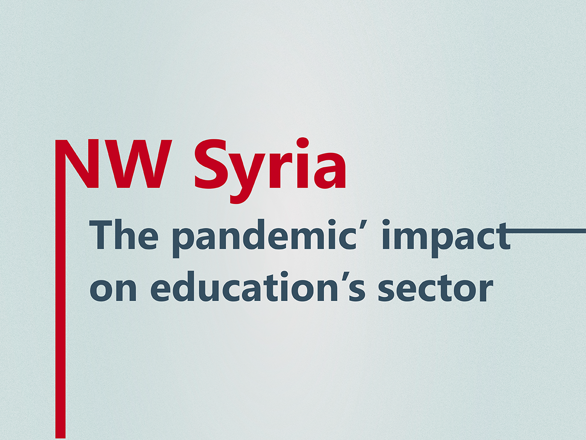 Syria || The pandemic impact on education's sector in northwest Syria